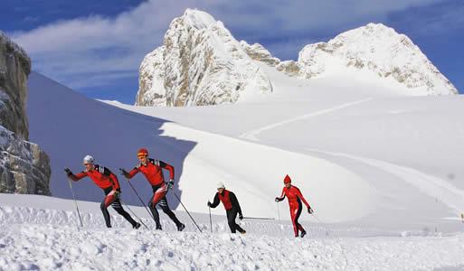 Dachstein to w lecie i jesienią mekka biegaczy narciarskich.