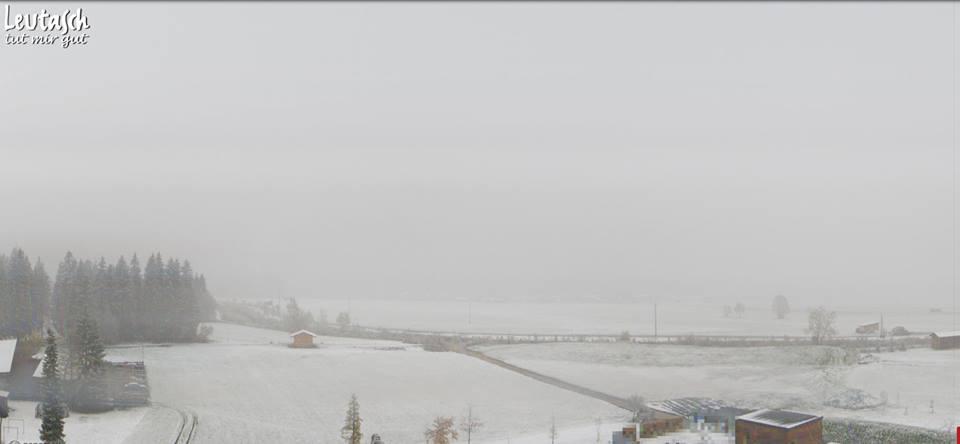 leutasch pierwszy śnieg