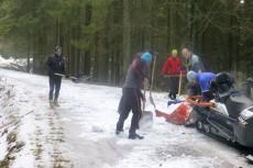 Tak jeszcze kilka dni temu wyglądały trasy na Skalce, ale na szczęście dopadało trochę śniegu.