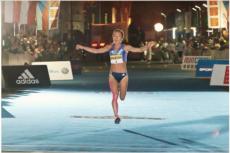 Eva Vrabcova 10 km bieg na nogach