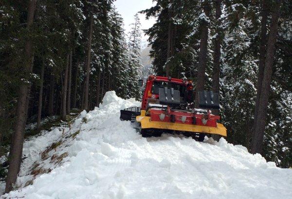 Davos pierwszy śnieg