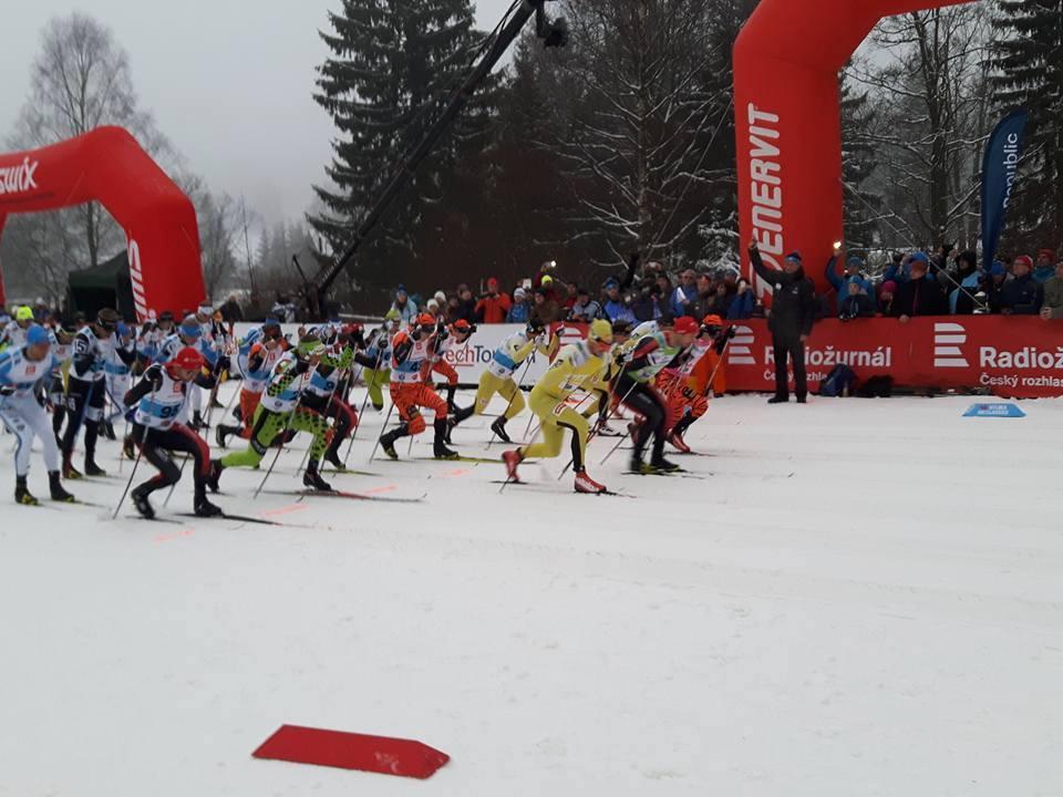 W Jizerskiej 50 elita biegała na dystansie 50 km.