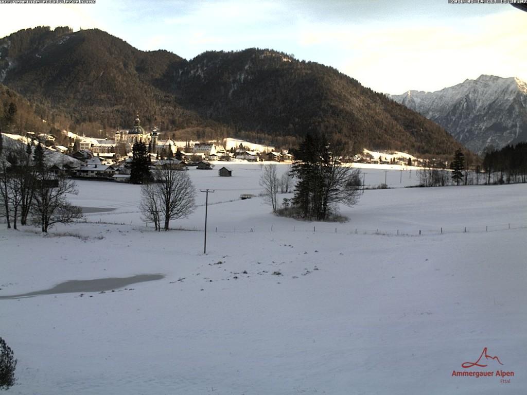 Zdjęcie z 14 stycznia z Ettal, miejsca startu Koenig Ludwig Lauf
