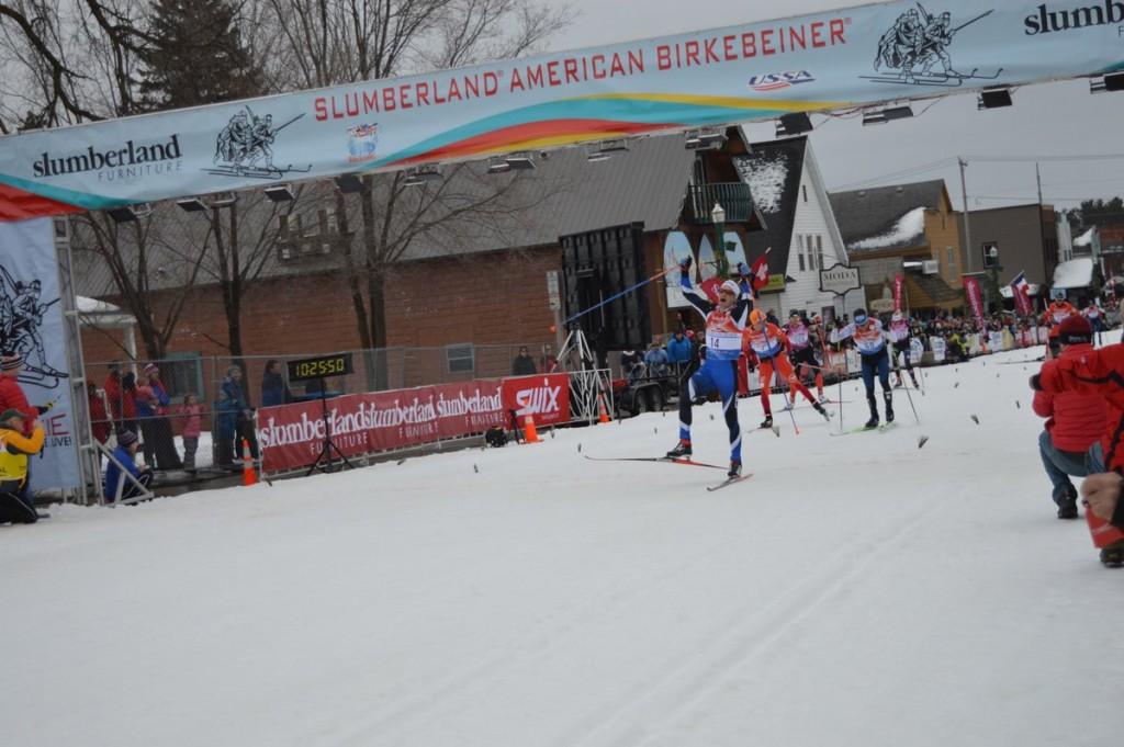 David Norris, zwycięzca biegu techniką dowolna w American Birkebeiner
